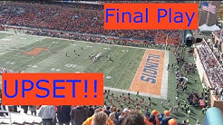 UPSET! Wisconsin v Illinois final play of football game October 19th 2019