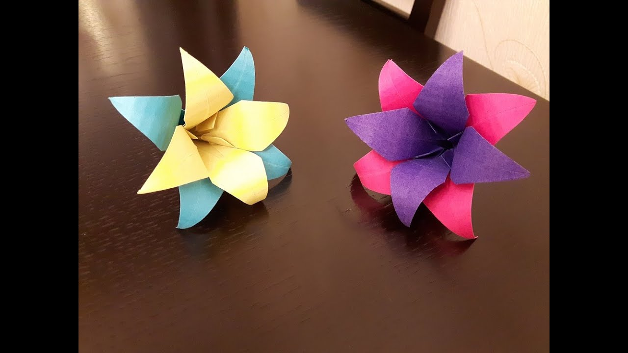 How to make a paper flowers easy youtube mightylinksfo Choice Image