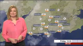 Emily Wood - BBC South News morning weather August 16th 2018
