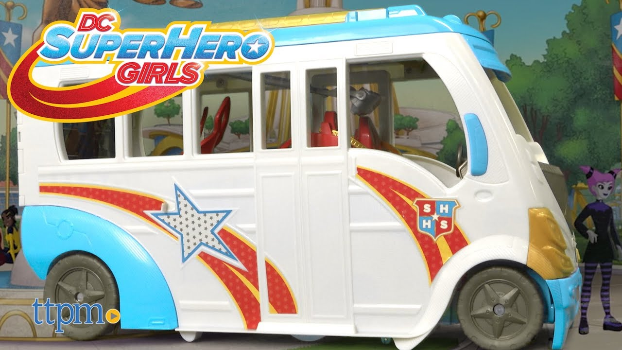 dc super hero girls school bus from mattel youtube