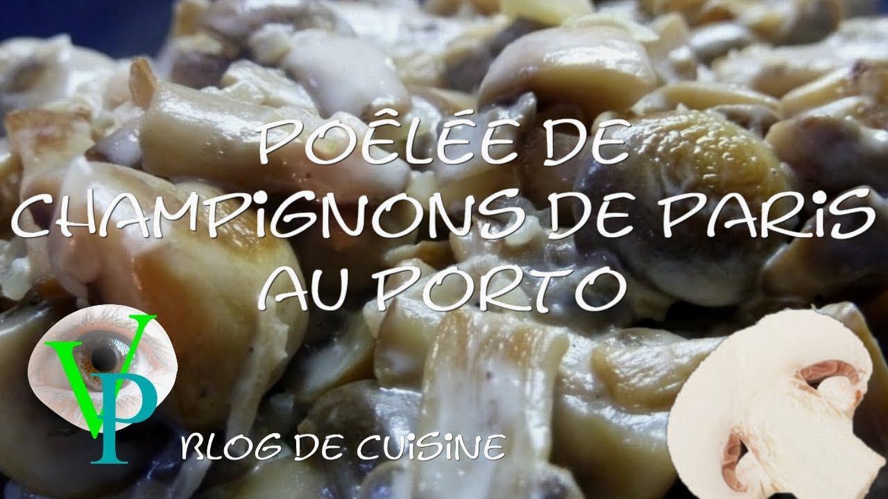 La cuisson des champignons de paris au porto