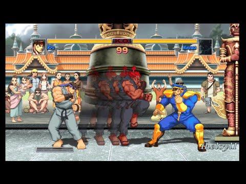Super Street Fighter II Turbo HD Remix - Ryu full playthrough - Final battle vs. Akuma & finale