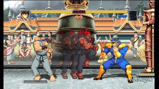 Super Street Fighter II Turbo HD Remix - Ryu full playthrough - Final battle vs. Akuma & finale