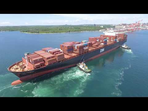 DJI Phantom 3 Video - 10070 TEU Container Ship ZIM ANTWERP I
