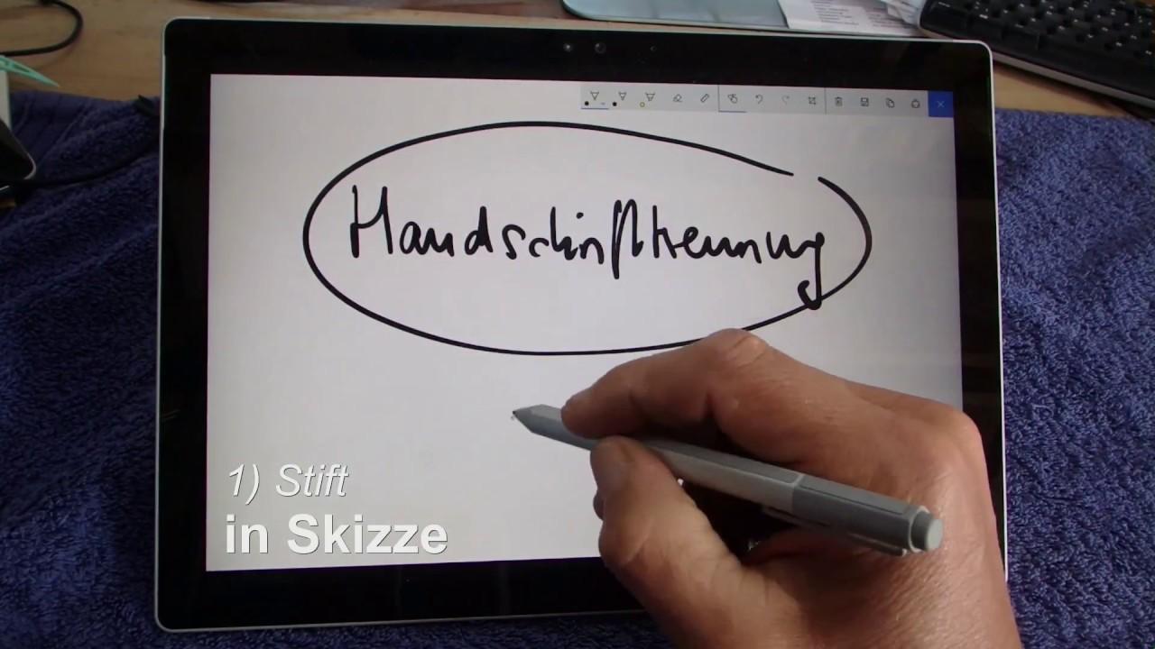 windows 10 handschrift