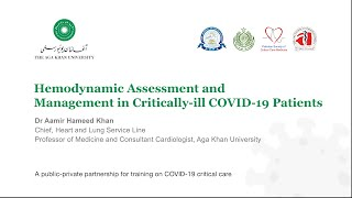 Haemodynamic Assessment & Management in Critically Ill Patients   Critical Care Course for COVID-19