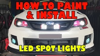 How to paint and install LED Spot Lights