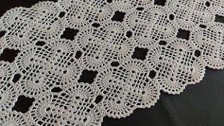 Caminho de mesa caminho de crochê