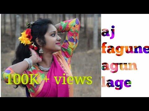Aj Fagune Agun Lage l Folk Dance l Dance With K❤️yel