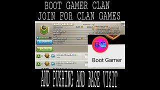 BOOT GAMER CLAN COMPLETE GAMES POINTS