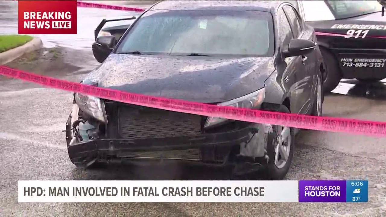 HPD: Man involved in fatal crash before chase