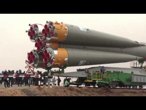 Expedition 27 Crew Prepares for Launch as their Soyuz Rocket