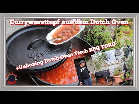 currywursttopf-aus-dem-dutch-oven-ohne-ketchup+-unboxing-do-tisch-bbq-toro- the-bbq-bear 