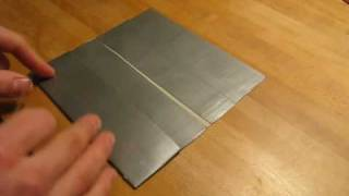 How to make a Duct tape checkbook holder