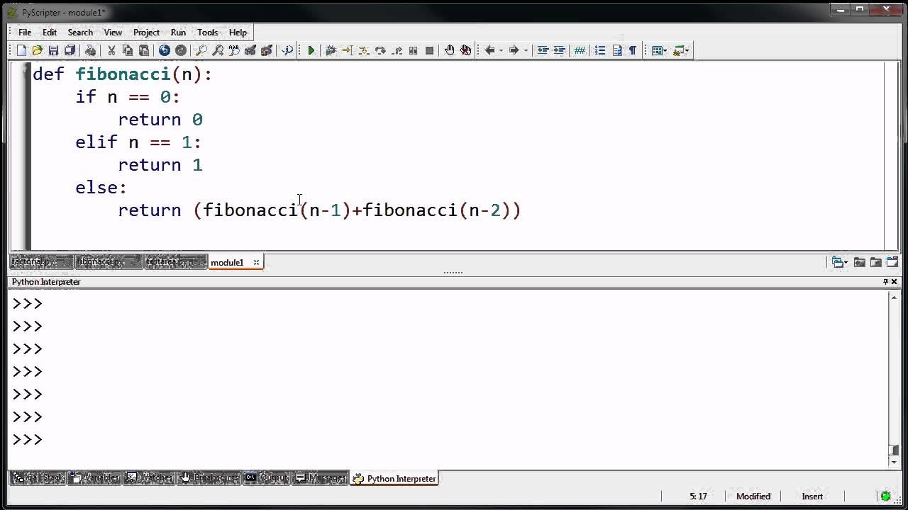 C Program to Print Fibonacci Series using Recursion