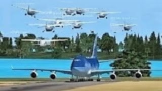 FSX Multiplayer CHAOS: Boeing 747 vs. Group of Cessna's (Steam Edition) Part 4!