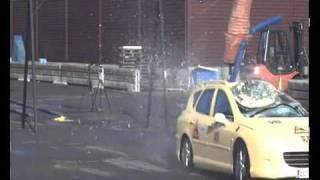 Elk/Moose Crash Test - Peugeot 407 Estate (70 Km/h)