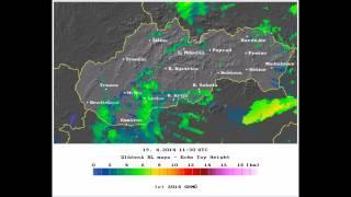 squall line 19.4.2014, E Slovakia & NE Hungary radar animation