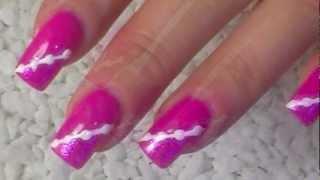 Урок по дизайну ногтей  Ярко розовый