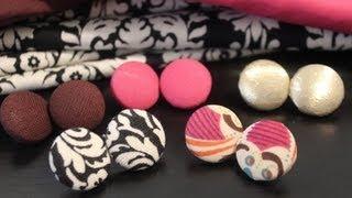 DIY: Fabric Button Earrings