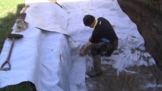 How To Build A Fish Pond Part 1 - Digging The Hole And Laying The Liner
