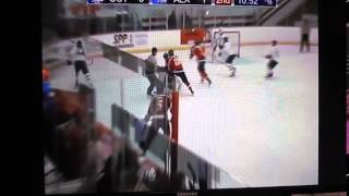 Nov 14 2015 Aaron Ryback #20 white Alexandria Blizzard winning draw