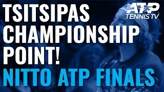 Stefanos Tsitsipas wins the 2019 Nitto ATP Finals!
