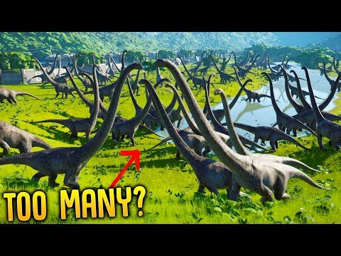 Jurassic World Evolution - How Many Dinosaurs Is Too Many? - Herbivores vs Carnivores 200+ Dinos