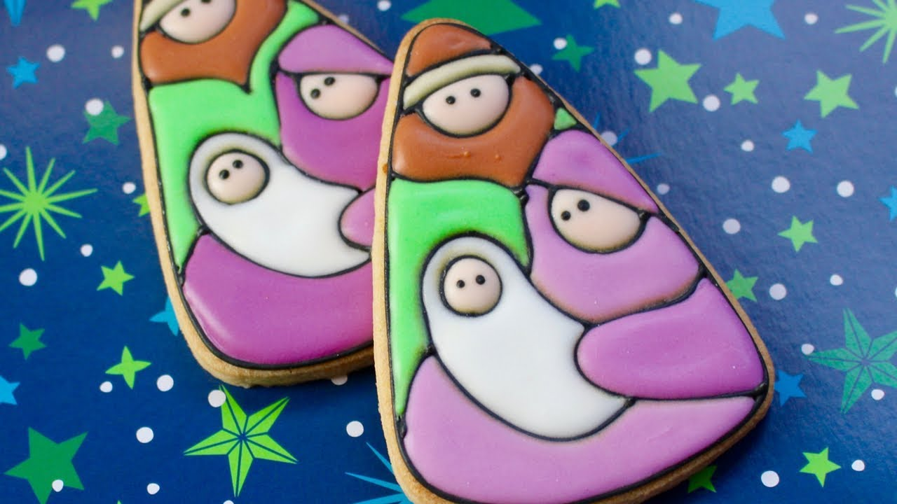 Remastered Nativity Scene Cookie Tutorial From 2014 Classic Christmas Cookies