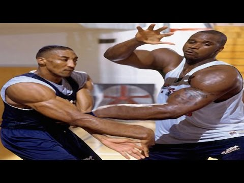 Download Basketball - Shaquille O'Neal Vs Scootie Pippen Shooting Match