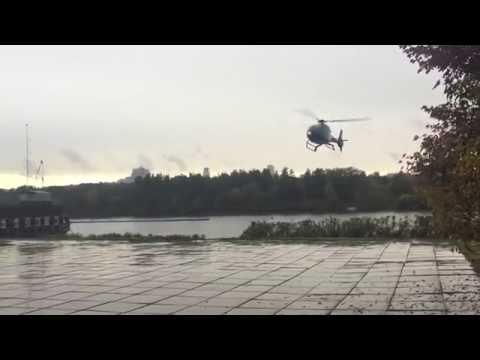Полёт на вертолёте в Киеве helicopter landing at Kiev
