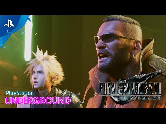 Final Fantasy VII Remake - Demo Gameplay | PlayStation Underground