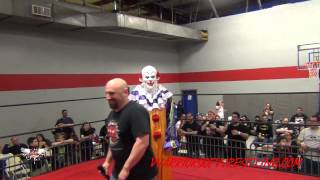 Staten Island Clown gets beat up at Warriors of Wrestling