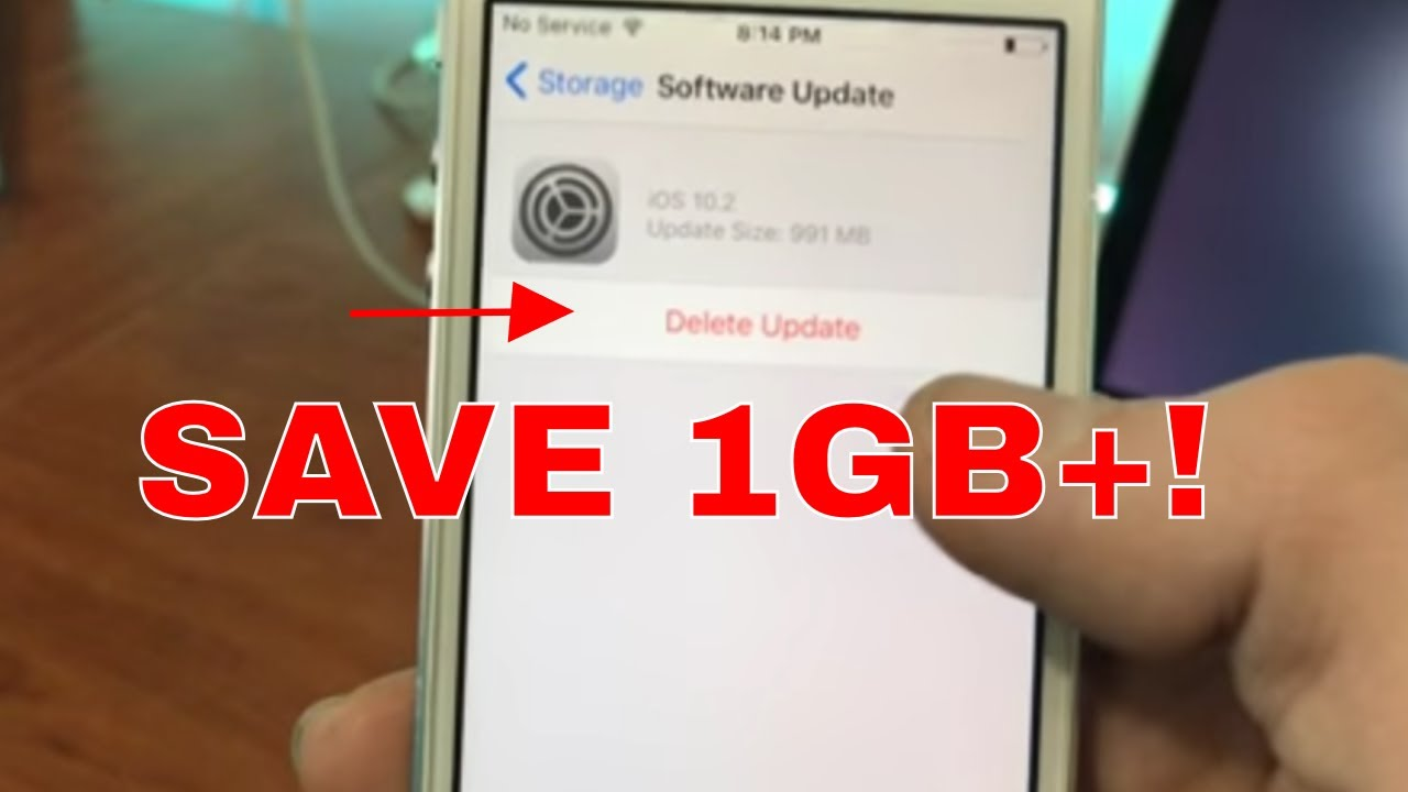 How To Delete Ios Updates And Save 1gb Space!