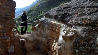 Ancient Inca Snake Temple In The Sacred Valley Of Peru
