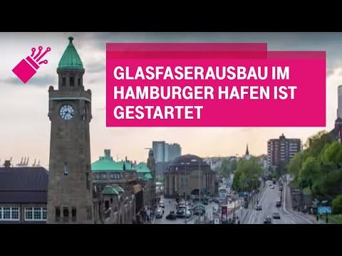Social Media Post: Glasfaserausbau im Hamburger Hafen ist gestartet