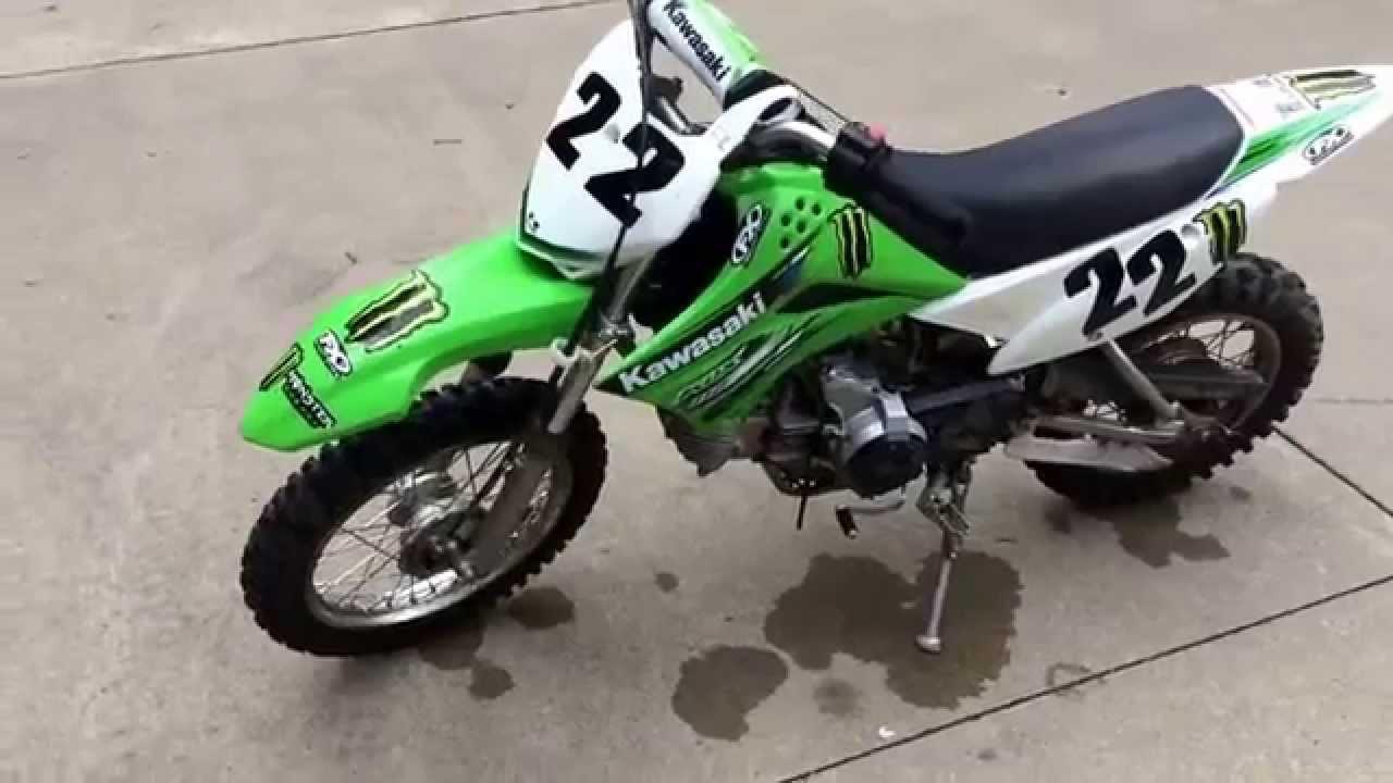 2013 Kawasaki KLX 110 four stroke - YouTube