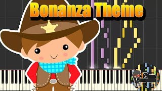 🎵 Bonanza Theme - Bonanza [Piano Tutorial] (Synthesia) HD Cover