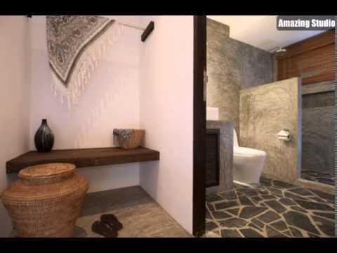 Rustikale Badezimmer steinboden grau rustikale badezimmer