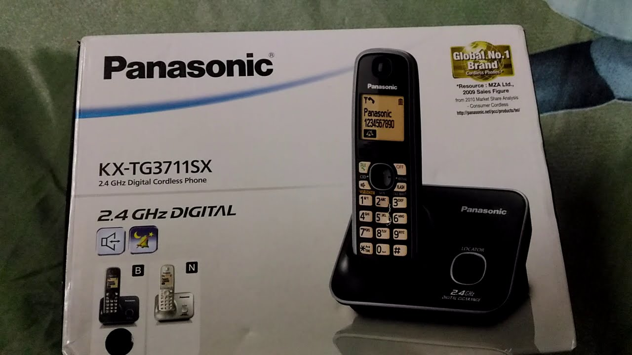 Panasonic KX TG3711SX Unboxing