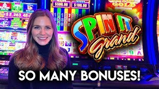 So Many BONUSES! Lots of Re-Triggers! Spin it Grand Slot Machine!