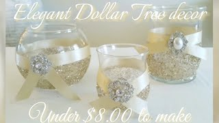 DIY| BLING GLASS CANDLE HOLDER TRIO DECOR/UNDER $5.00 TO MAKE