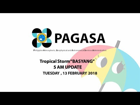 "Press Briefing: Tropical Storm  ""#BasyangPH"" (SANBA) Tuesday 5AM, February 13, 2018"