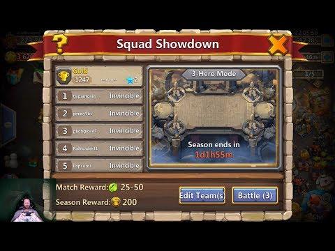 OWNAGE Squad Showdown Set Up Ordinary & Elite Heroes Castle Clash