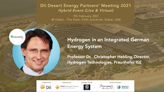 Hydrogen in an Integrated German Energy System - Prof. Christopher Hebling, Fraunhofer ISE