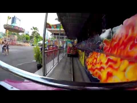 รถไฟผีสิง Dark Ride - สวนสนุก Global Carnival 2016