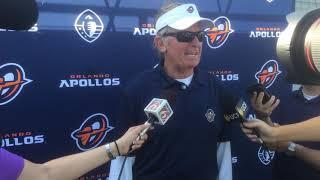 Steve Spurrier Orlando Apollos head coach on AAF opener
