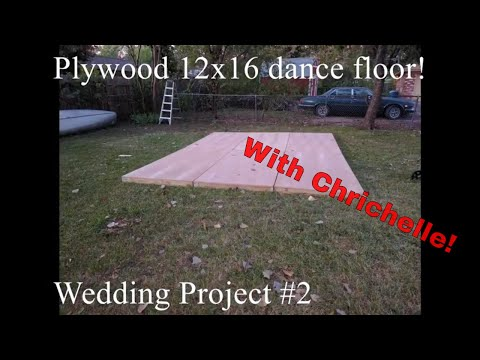 A Sturdy Homemade Plywood Modular Dance Floor for Our Wedding