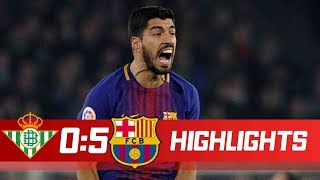 Real Betis vs FC Barcelona 0-5 Goals & Highlights - LaLiga 21/01/2018 HD