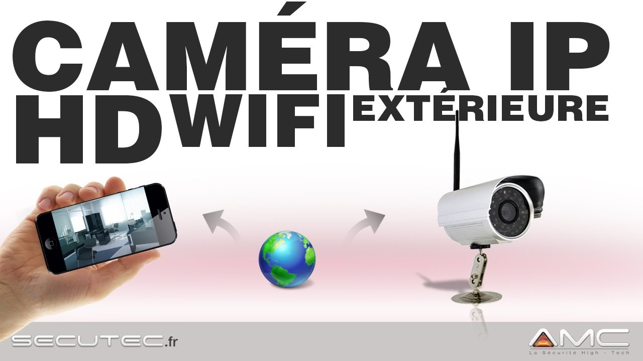 Camera de vid osurveillance ip hd sans fil wifi secutec for Video surveillance exterieur sans fil